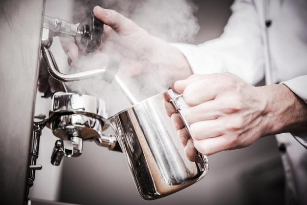 Image of stainless steel milk jug