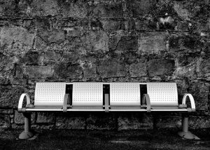 Image of stainless steel bench